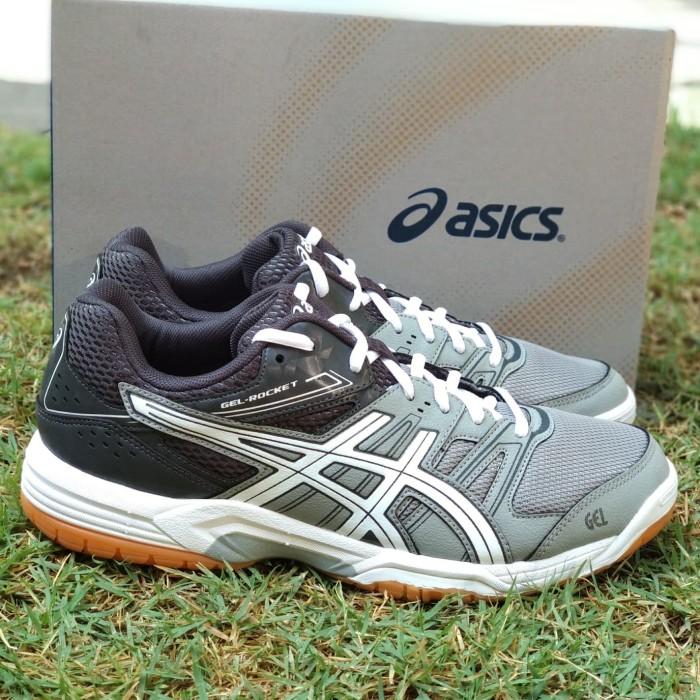 Jual Sepatu Asics Gel Rocket Original Grey Volly Badminton Indoor ... 8add0e79cb