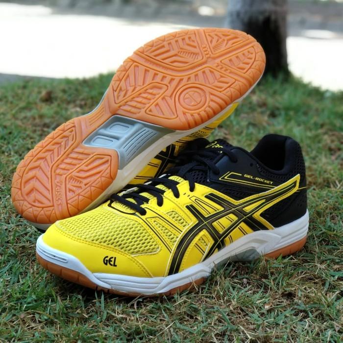 harga Sepatu asics gel rocket original black yellow volly badminton Tokopedia.com