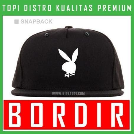 Jual Topi Bordir Snapback Playboy 07 Snapback PLB07 - KiosTopiCom ... 2379153b4a
