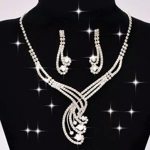 harga Set perhiasan motif bulu ekor merak Tokopedia.com
