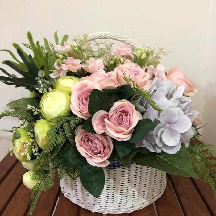 Contoh Gambar Rangkaian Bunga Plastik Foto