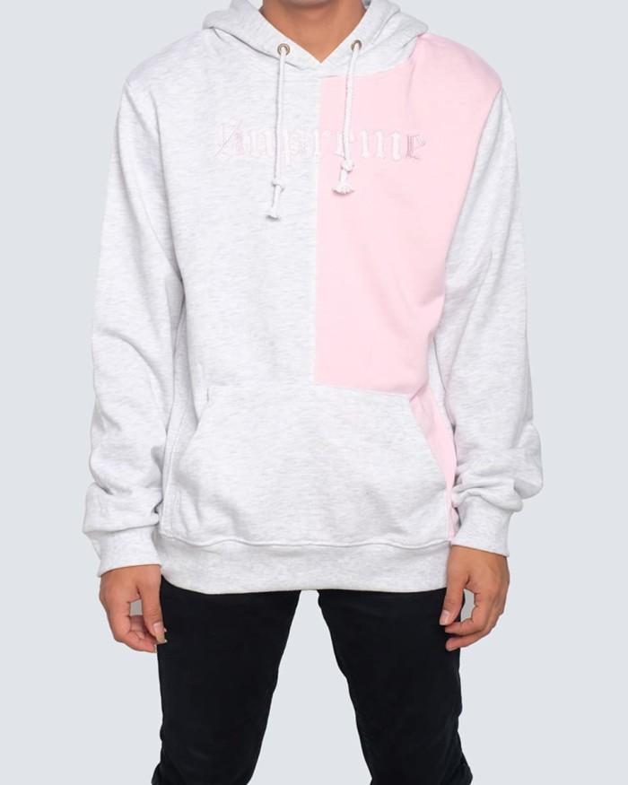 bb90116a8 Jual jaket hoodie supreme split old english pink grey abu - DKI ...
