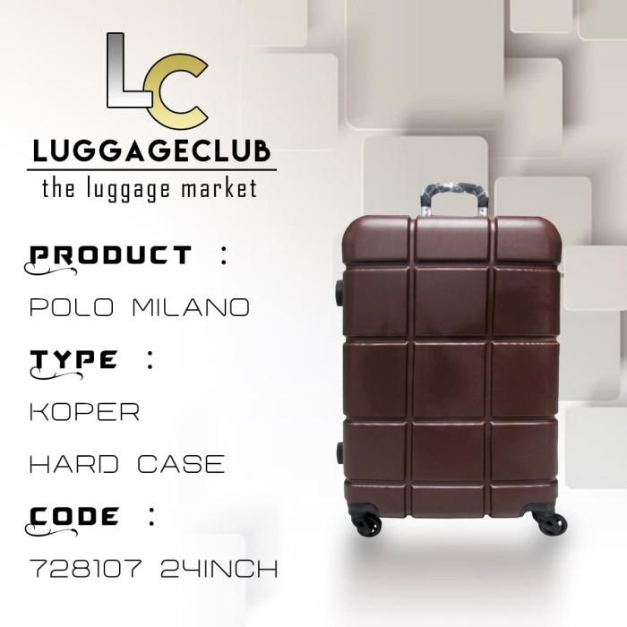 Koper Hardcase ABS Polo MIlano 728107 24Inch Coklat