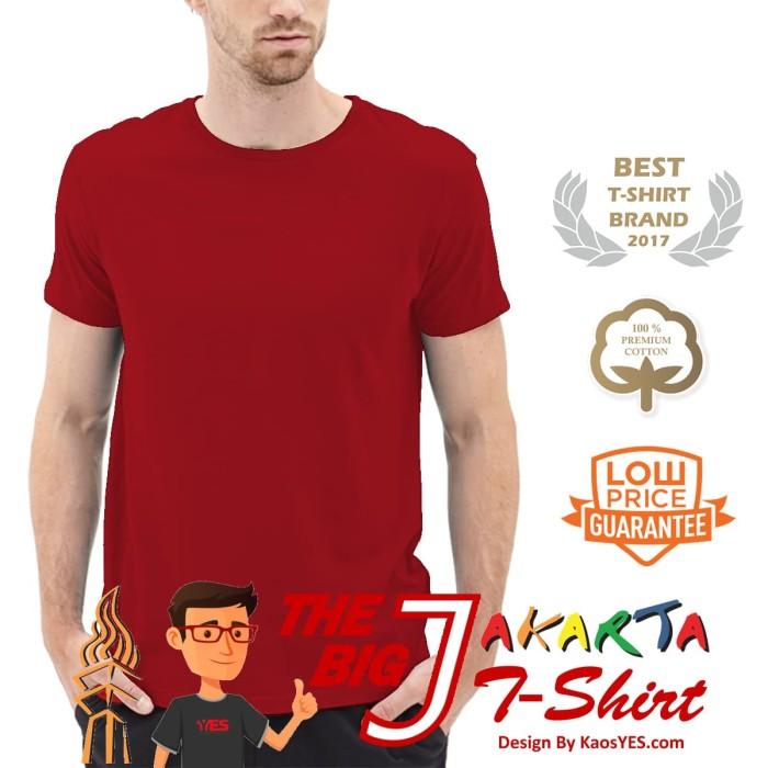 KaosYES Kaos Polos T-Shirt O-NECK LENGAN PENDEK - Maroon, M