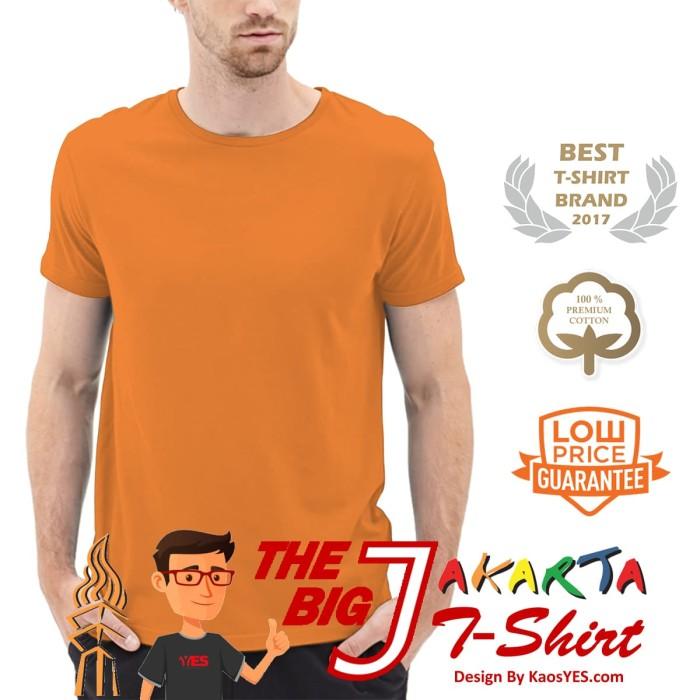 KaosYES Kaos Polos T-Shirt O-NECK LENGAN PENDEK - Orange, XXXL