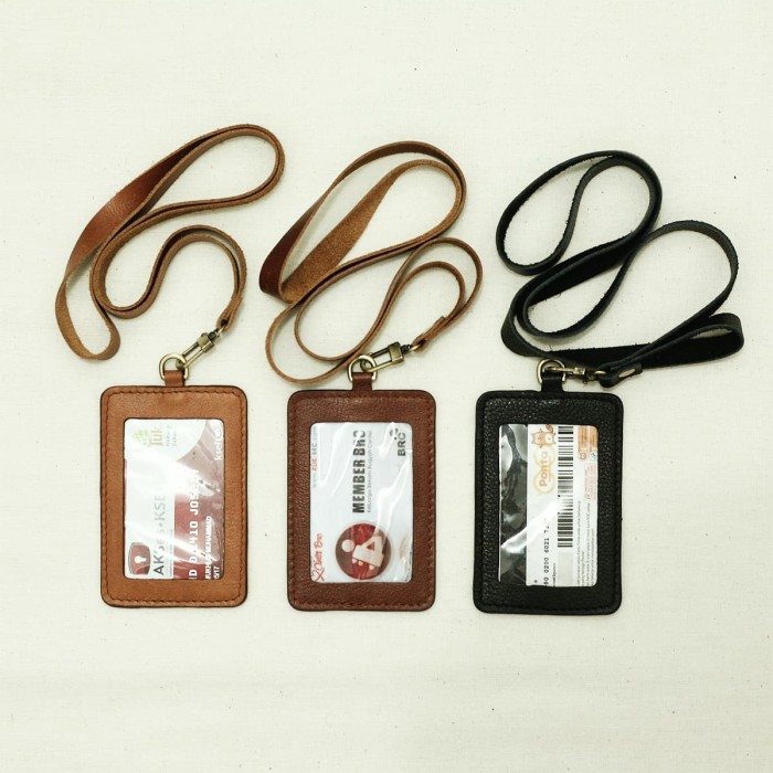 harga Gammara leather id card holder / tag Tokopedia.com