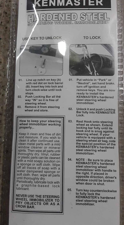 Jual Kenmaster Kunci Stir 4517 Kunci Setir Mobil Kenmaster 4517 Jakarta Utara GeraiListrik