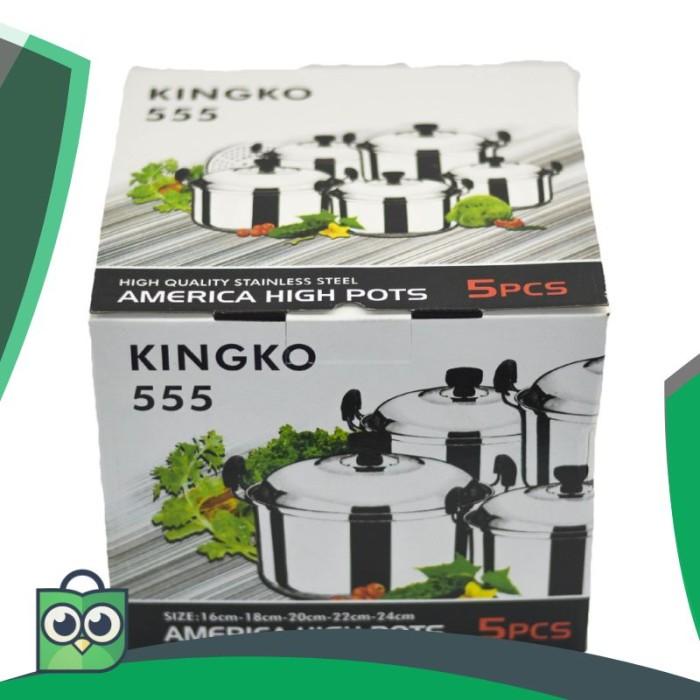 Panci Set Kingko 5 Pcs 555 Steamer .