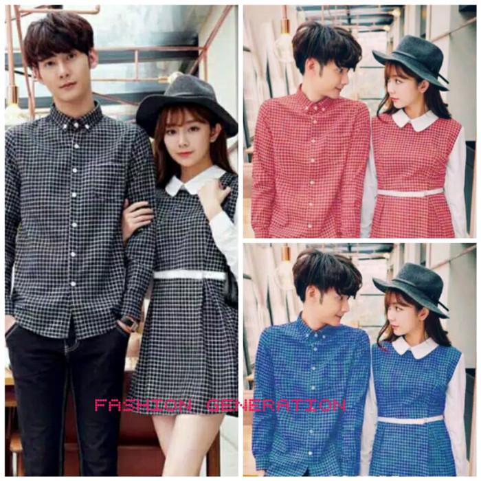 Baju / Dress / Kemeja Couple - Pasangan Motif Kotak