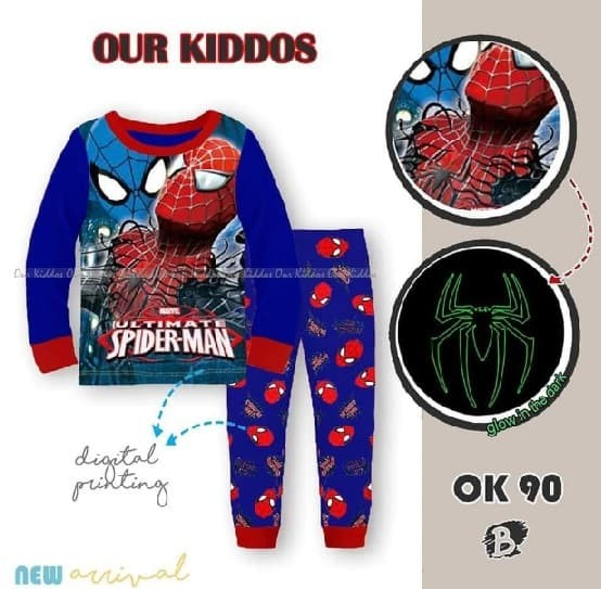 Jual PIYAMA ANAK OUR KIDDOS OK 90 B SPIDERMAN  5614d8b69a