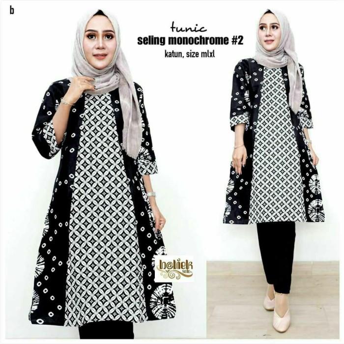 Jual Baju Batik Wanita Tunik Batik Atasan Wanita Modern Kab Pekalongan Batik Zamzam Tokopedia