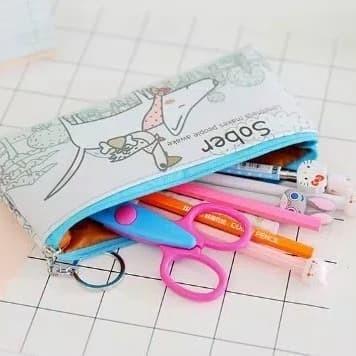 Cute Cartoon Puppy Pencil Case,Pencil Bag With Zipper,Pencil Pouch