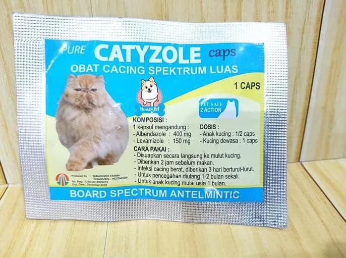 Obat Cacing Kucing Catyzole Capsul 1Cap .