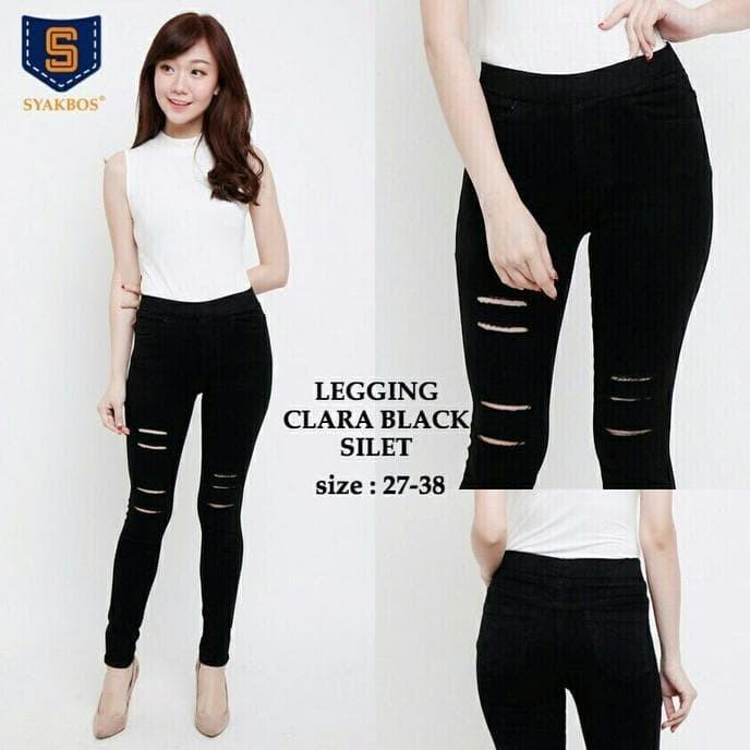 Jual 27 30 Silet 3 Legging Clara Black Celana Jeans Legging Kekinian Jakarta Pusat Suci Semesta Shop Tokopedia