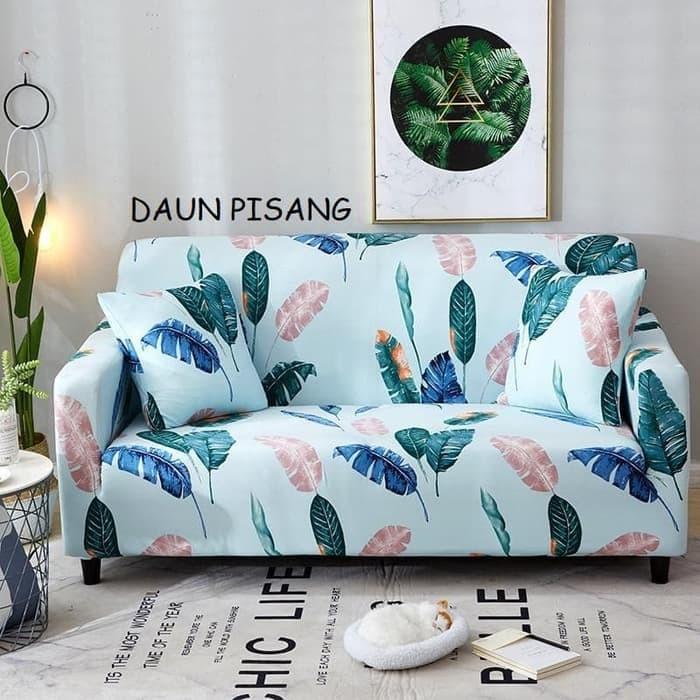 harga Cover sofa 2 seater free 2 sarung bantal (daun pisang ) Tokopedia.com