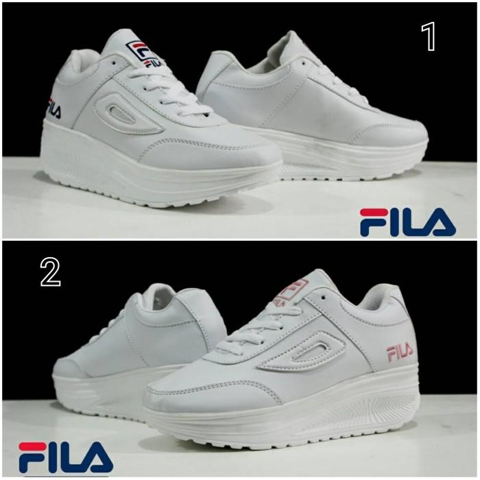 Jual Sepatu Sneakers Wanita Fila Wedges Casual Sport Murah Terlaris ... aa6df1777b