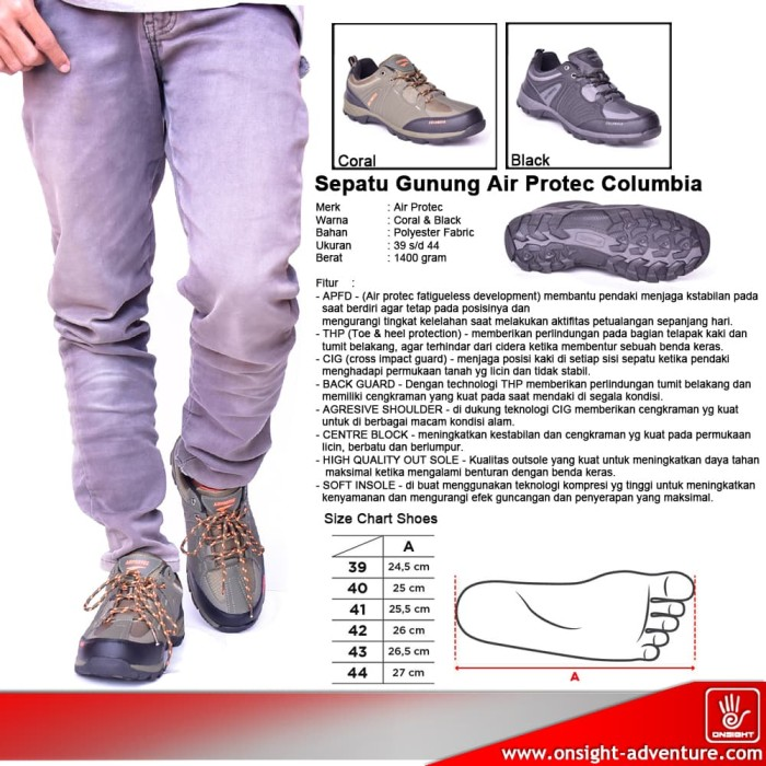 Jual Sepatu Gunung Air Protec Columbia - Sepatu Hiking - Sepatu ... 852d348563