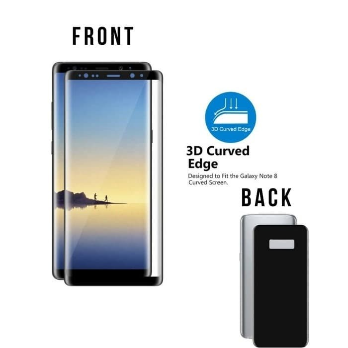 harga Samsung galaxy note 8 tempered glass 3d front + back Tokopedia.com