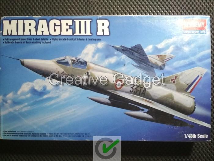 harga Model kit academy 1/48 - french fighter aircraft - mirage iii r Tokopedia.com