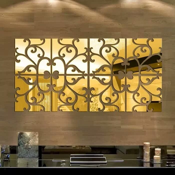 jual wall sticker cermin acrylic / wall sticker - griya net | tokopedia