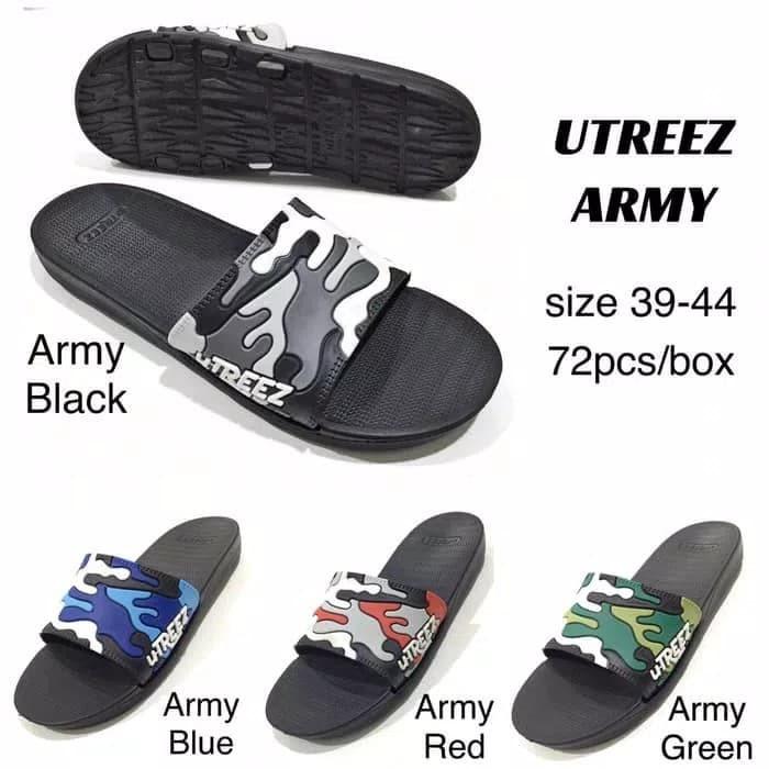 harga Sandal pria utreez army / crocs / skechers / nike / adidas Tokopedia.com