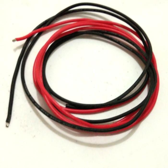 Foto Produk awg 18 silicone cable / kabel silikon high temp 200 °c - Hitam dari versus box mod supply
