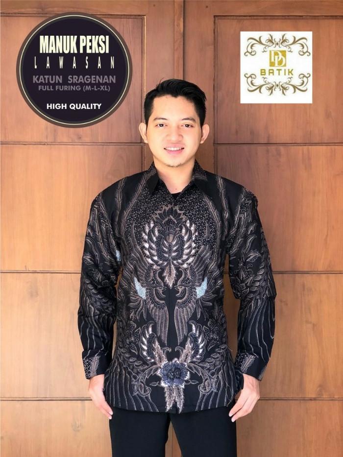 harga Manuk peksi lawasan baju batik pria kemeja batik lengan panjang by dd Tokopedia.com