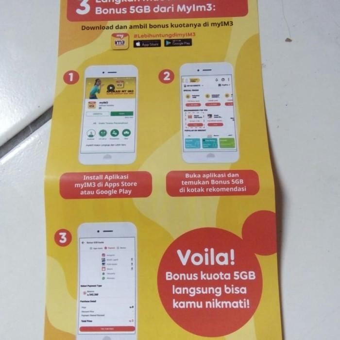 Jual kartu perdana murah im3 oredoo 5 gb berlaku seluruh indonesia - Kab   Tangerang - basri online shop   Tokopedia