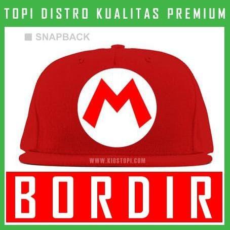 harga Topi bordir snapback mario bros 02 snapback mab02 Tokopedia.com