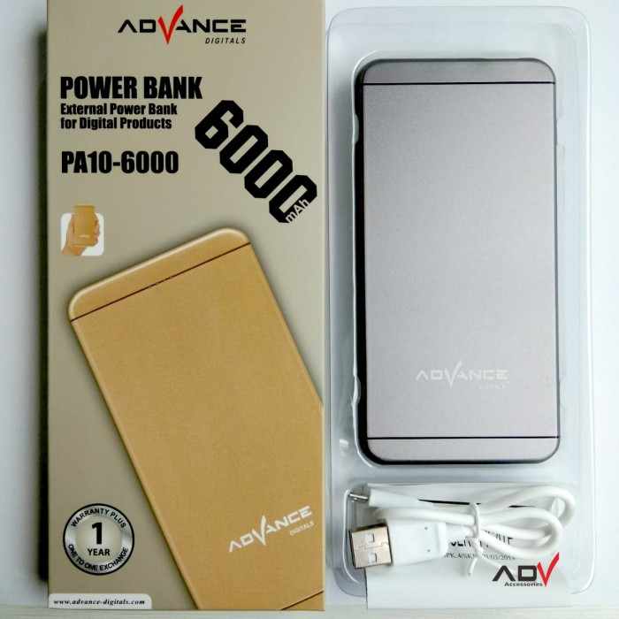 Power bank advance pa10 - 6000 mah
