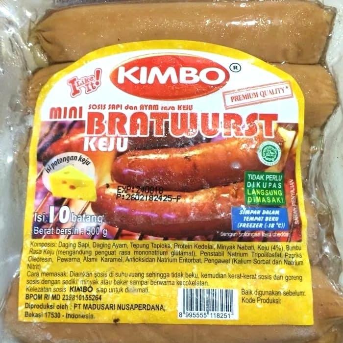 harga Kimbo bratwurst mini keju isi 10btg Tokopedia.com