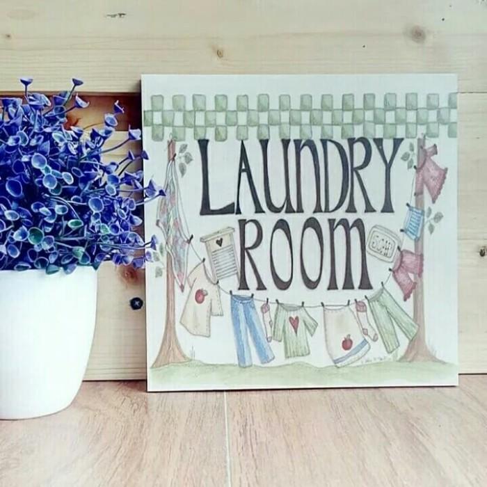 Jual Wall Decor Laundry Room Ruang Cuci Murah Cantik Dekorasi Dinding Kota Bandung Shangrila Global Shop Tokopedia