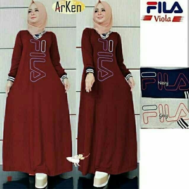 Jual Maxy Arken Maroon Busana Muslim Modern Baju Gamis Wanita