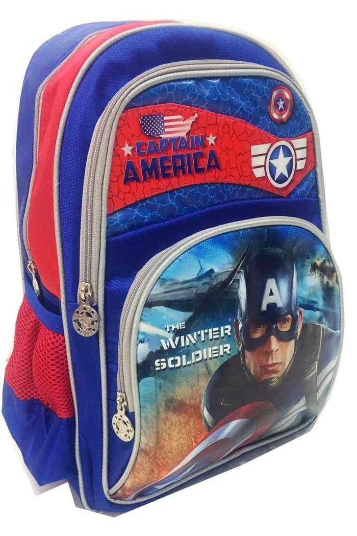 Jual Tas Ransel Sekolah Anak SD Marvel Captain America Bahan Saten ... a22d5afcd7