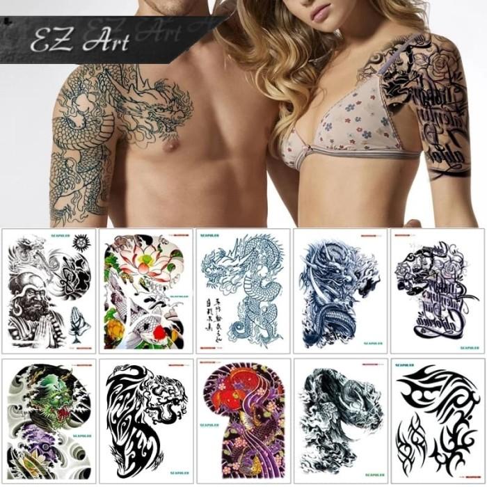 Jual Big Size Dada Temporary Tattoo Sticker Stiker Tato Sementara Kab Sragen Ez Art Tokopedia