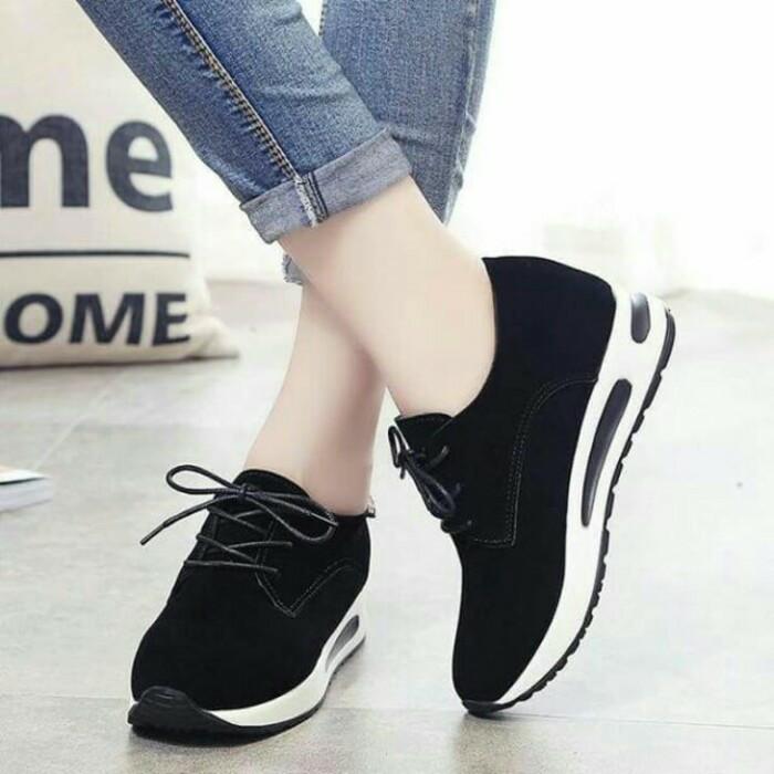 Jual Sepatu Wanita Kets Tali Gt Warna Hitam Kab Bogor