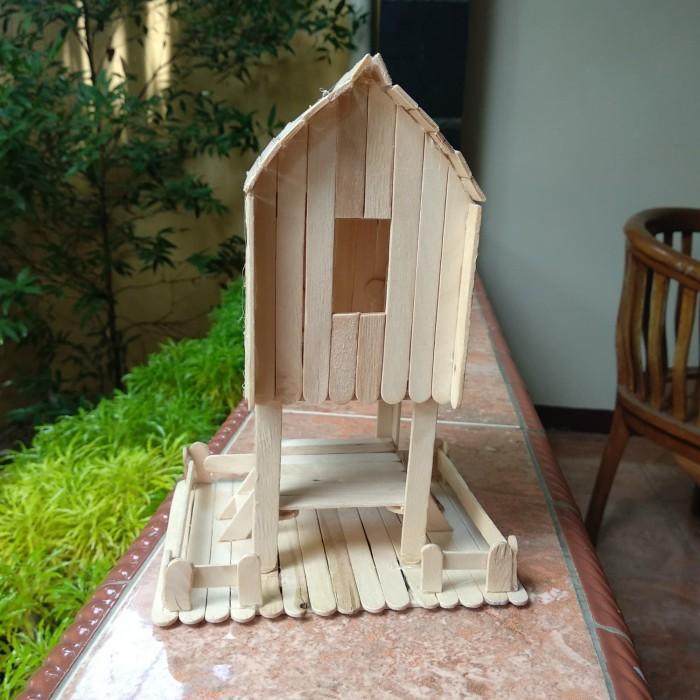 Jual Prakarya Maket Miniatur Rumah Adat Sasak Lombok Dari Stik Es Krim Kota Bekasi Rafkizaf Tokopedia