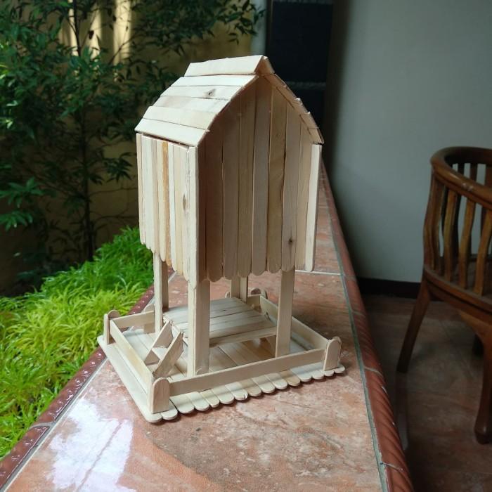 Jual Prakarya Maket Miniatur Rumah Adat Sasaklombok Dari Stik Es Krim Dki Jakarta Rafkizaf Tokopedia