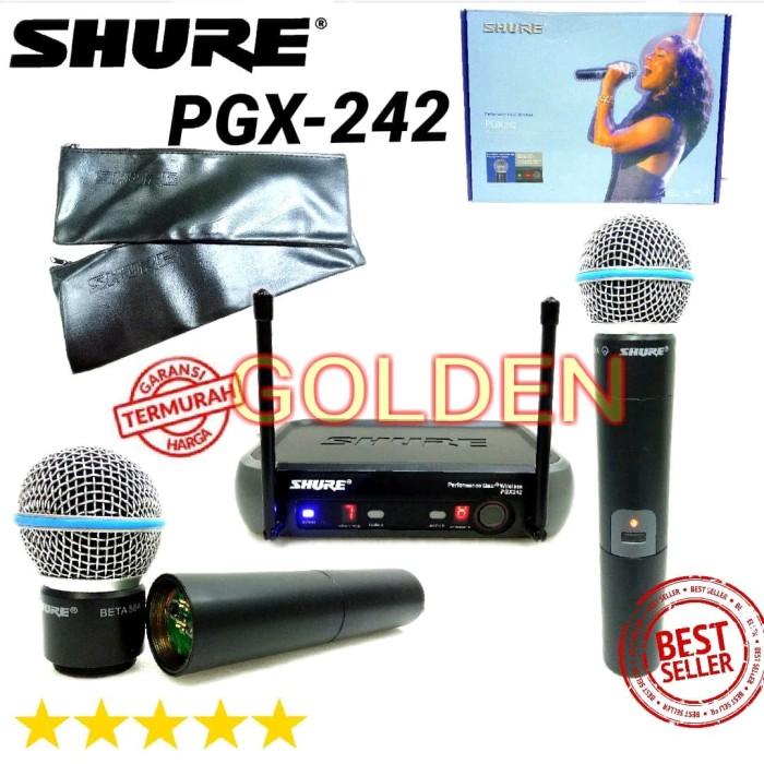 harga Mic wireless shure pgx 242 handheld baru Tokopedia.com