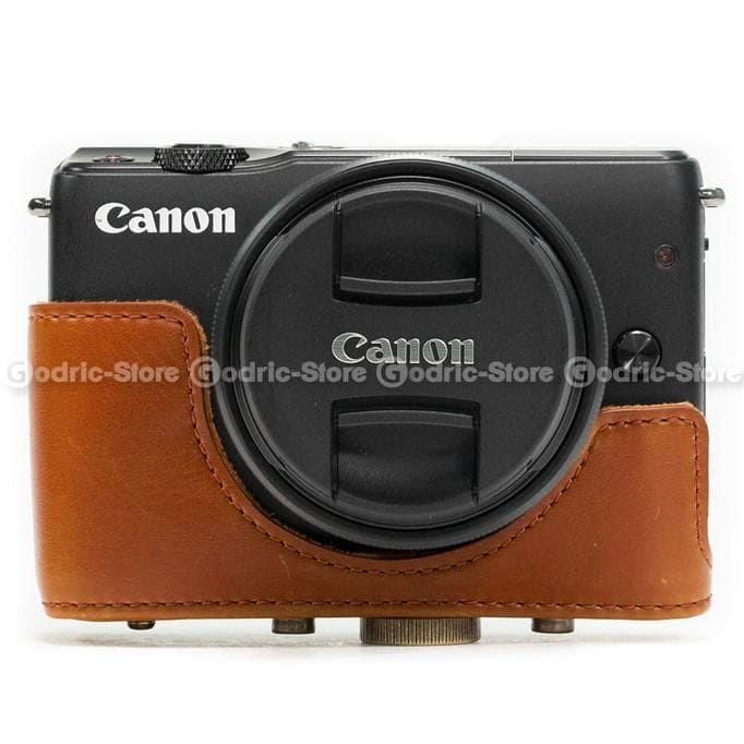 Jual Terlaris Canon Eos M10 Leather Bag   Case   Tas Kamera Kulit 15 ... 2a940e48da