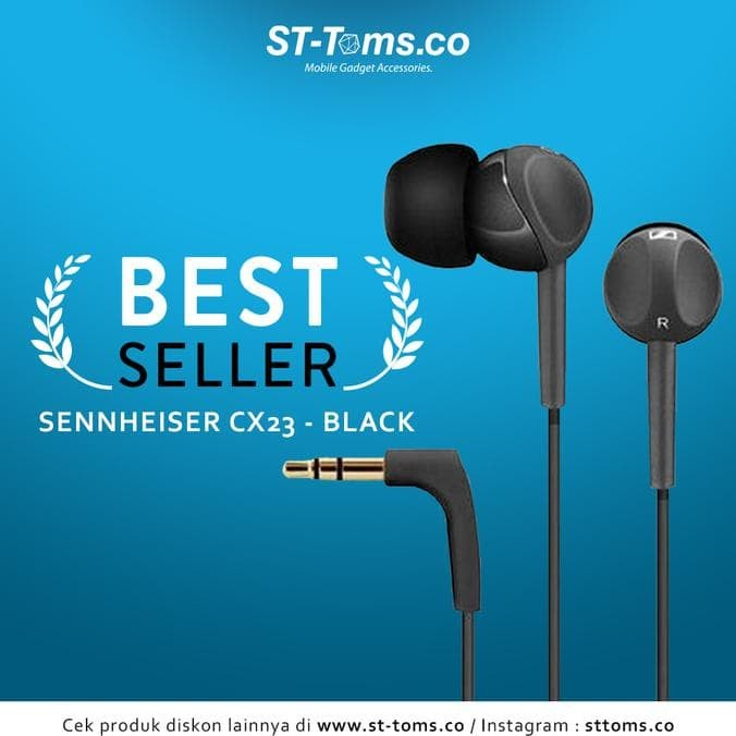 Resstokkk Sennheiser In Ear Earphone Cx213 - Black
