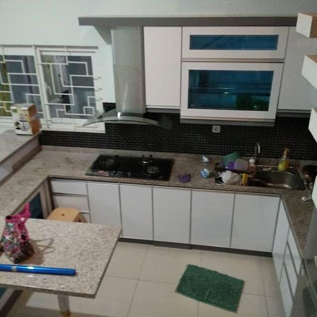 Jual Kitchen Set Minimalis Abu Abu Khoirul Furniture Tokopedia