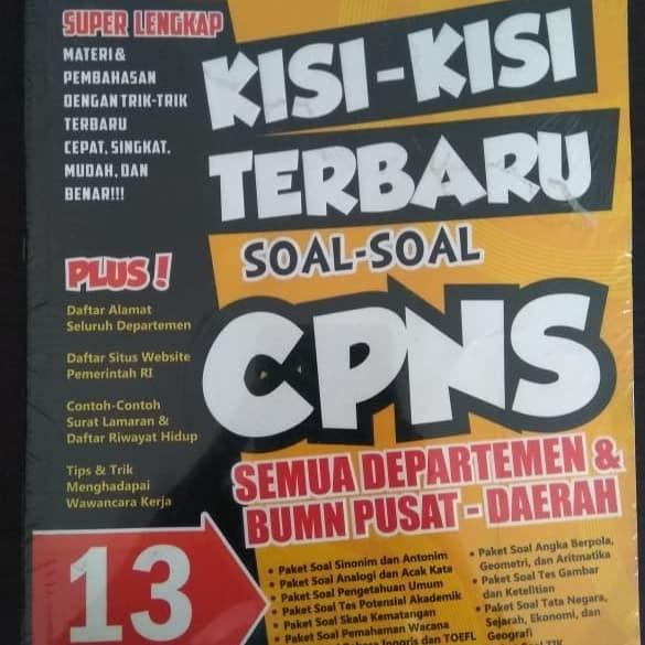 Jual Kisi Kisi Terbaru Soal Soal Cpns Kota Yogyakarta Booksmart Tokopedia