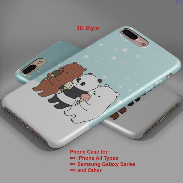 Jual Cute We Bare Bears Wallpaper Iphone Case And Semua Type Hp Jakarta Pusat Kings Case Tokopedia