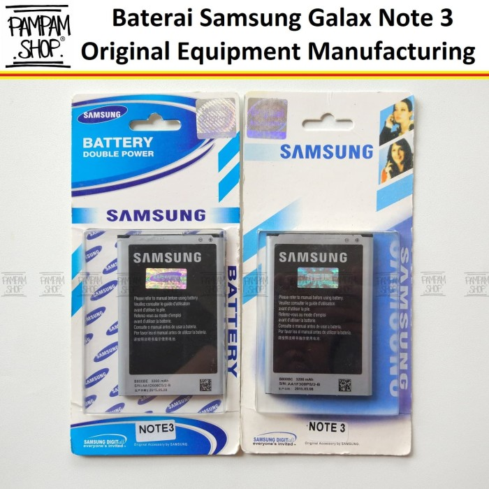 harga Batre / baterai / battery / batrai handphone samsung note 3 n9000 ori Tokopedia.com