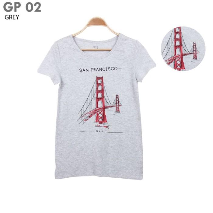 harga Gap women t-shirt cotton branded short kaos baju atasan wanita pendek Tokopedia.com