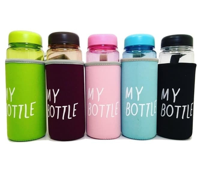 My Bottle Doff Free Pouch Bag (Infused water, Botol Minum Tumblr) - Biru Muda