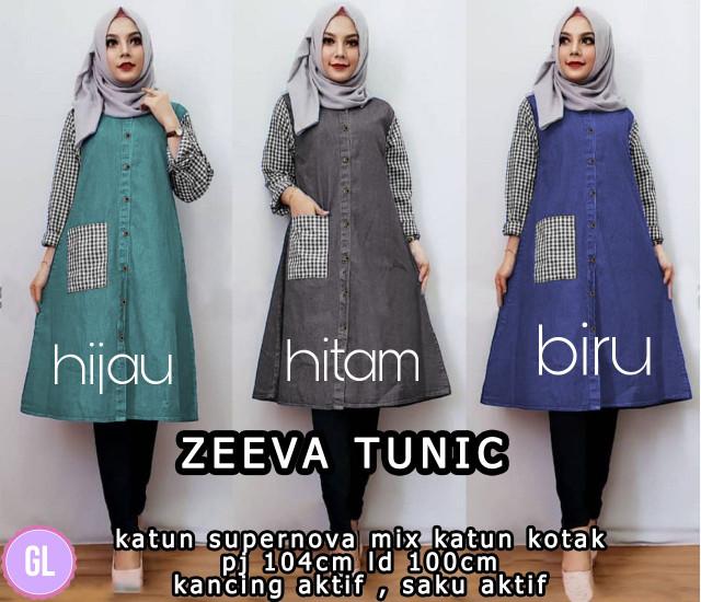 Atasan Wanita Muslim - Baju Tunik Murah Zeeva Tunic - Dzikri Moeslim ... 43d17e2bec