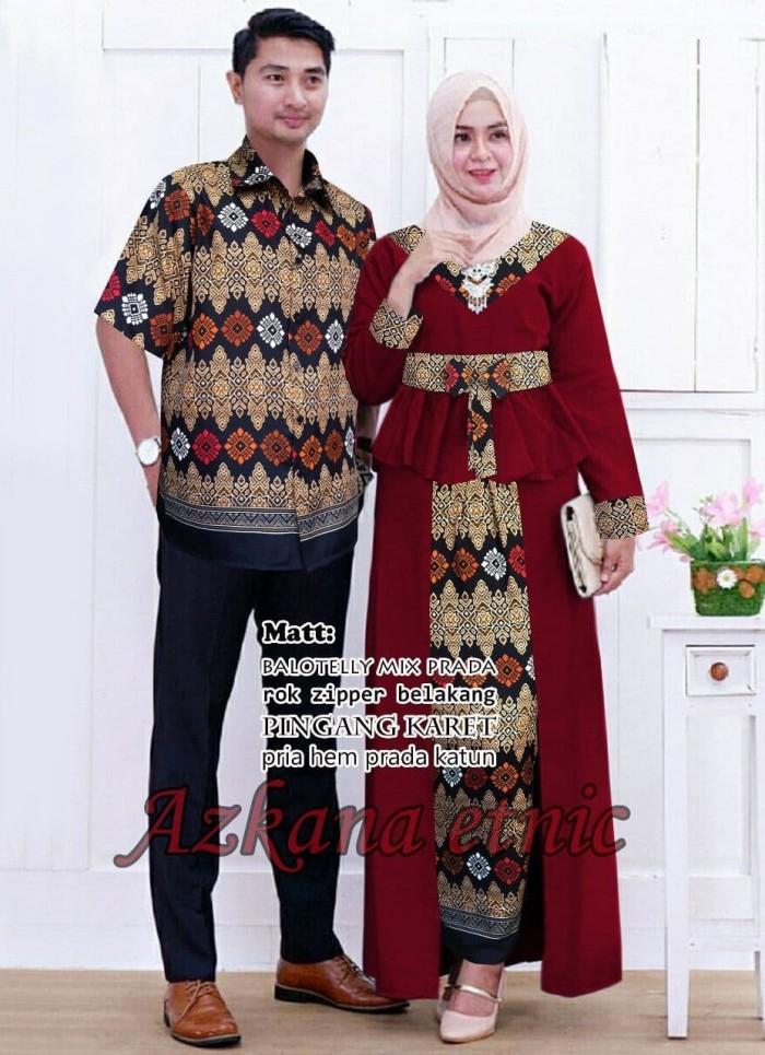 Setelan Wanita Muslim - Couple Kebaya Batik Modern Azzkana - Dzikri ... 6383a34792