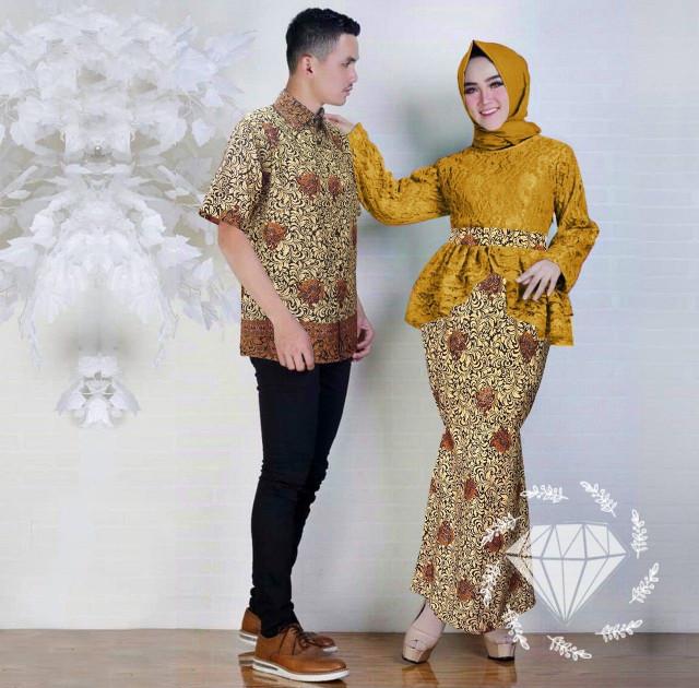Setelan Wanita Muslim - Couple Kebaya Batik Modern Keyli - Dzikri ... 93be6b26eb